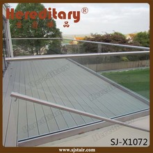 Residential balcony railing / aluminum u channel glass railings / frameless glass railing