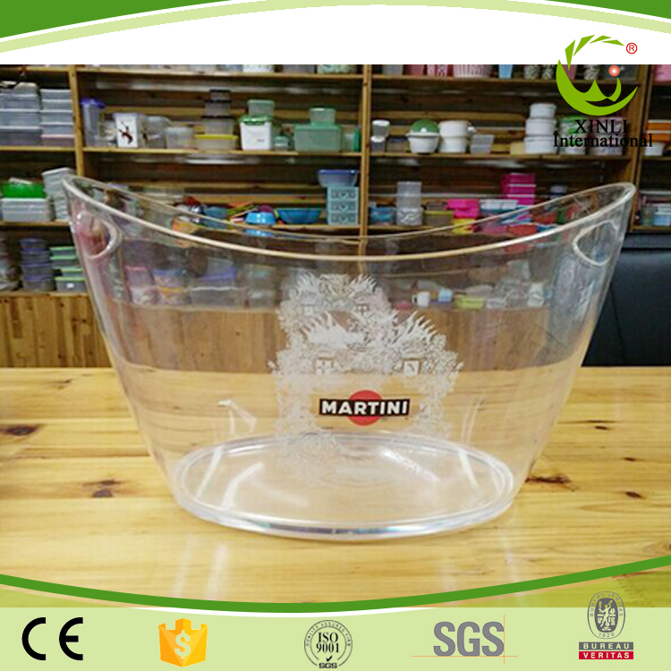 Table Transparent Clear Wine Bottle Plastic Custom Buckets Coolers /Holders