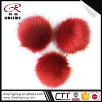 Short Time Delivery OEM artificial finger red and blue poms pom art projects