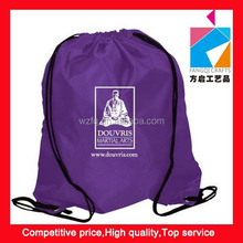 Portable Travel Dust Drawstring Dress Shoes polyester Pouches Storage Bag