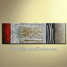2015 Newly Design Style-3D Relief Handpainted Aluminum Metallic Texture Oil Painting Basic on canvas