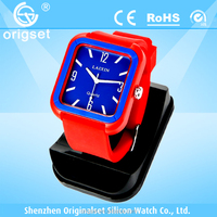 Newest watch Silicone Multi-color Japan movement waterproof cheap silicon watches women