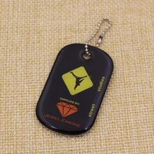 Professional supplier dog tag chain with logo customized