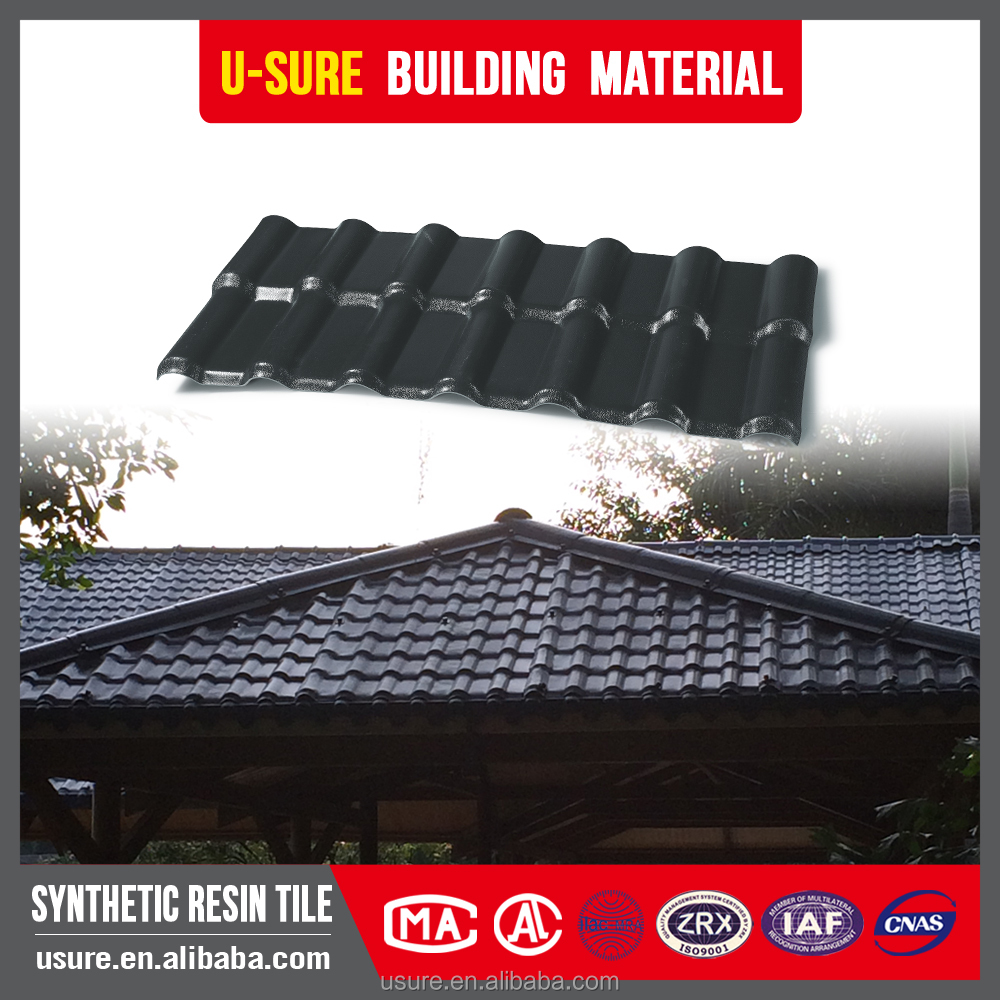 Hail resistance synthetic resin roof tile