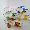 wholesale crystal animal figurine glass fish for wedding gift