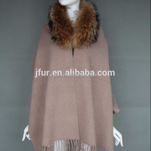 Winter wool shawl fur collar poncho new style shawl