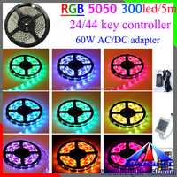 5050 kit LED strip light,RGB kit LED strip light with 44 key controller and 60w driver