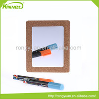 Cork sheet EVA backing wholesale soft magnet mirror mini comno board