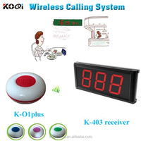 Waiter paging call system bar counter display with service buzzer waterproof