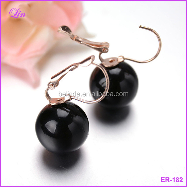 Free Shipping by DHL/FEDEX/SF Earring Fashion Fine Big Size Shiny Colorful Simulated Pearl Drop Earrings For Women