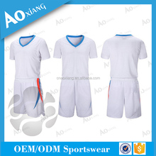 Custom dry fit material polyester soccer set football jersey
