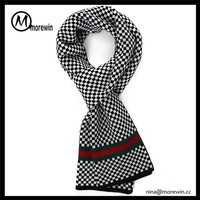 Morewin brand custom 100% acrylic fashion knitted winter scarf for men