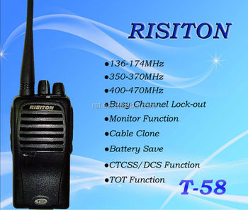 T-58 two way radio of RISIRON long range radio wlkie talkie