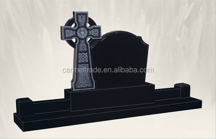 Hot Sale Granite Irish Celtic Cross Butterfly Headstones