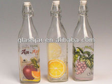750ml glass water bottle with swing top cap