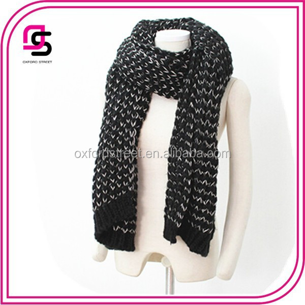 Chunky Extra Long Knitted Winter Scarf Knitting Scarf