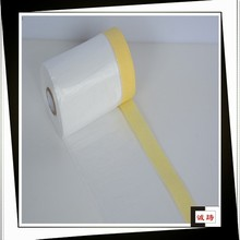 Functional hdpe film roll with masking tape