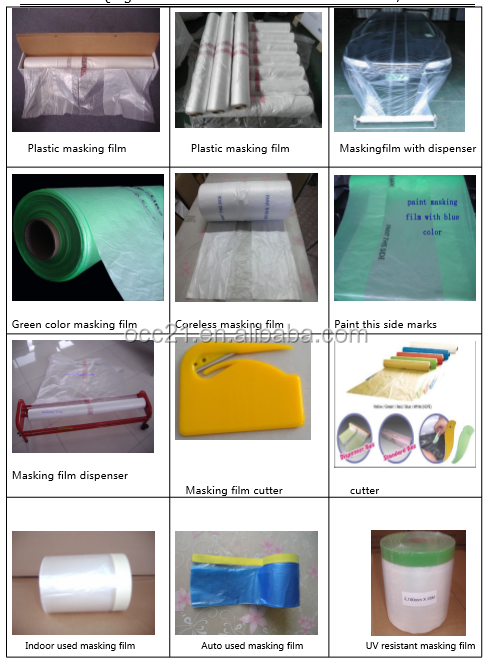 static treated automotive aftermarket overspray masking film