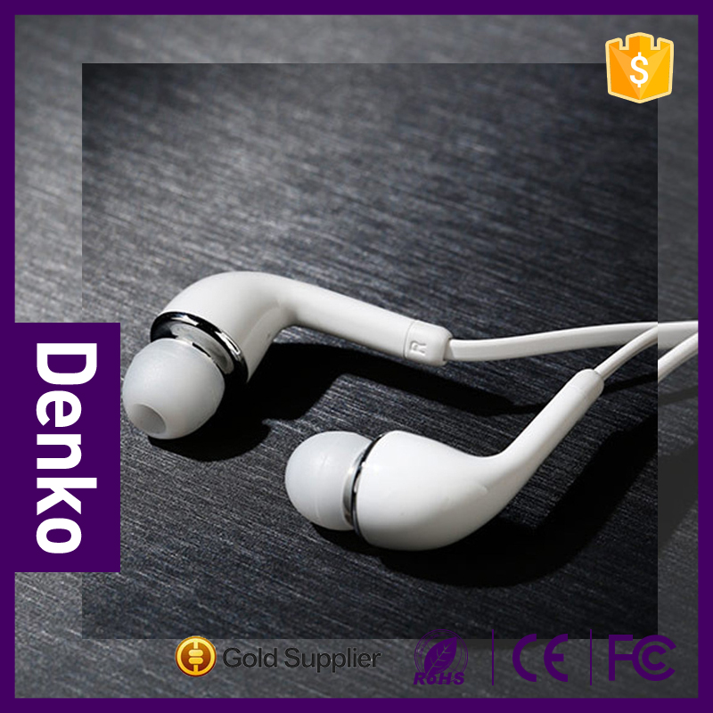 2016 Competitive price S4 hands free 1.5m TPU cable white earmuff earphone earbud for SAMSUNG