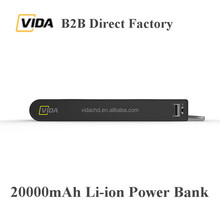 2017 VIDA Big Capacity 20000mAh Quick Charging Type-C Wireless Power Bank External Battery Charger