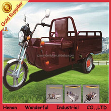 Wonderful low consumption fashionable solar adult tricycle for cargo and passenger