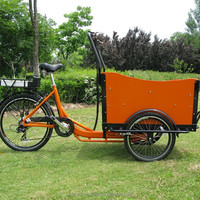 electric flatbed tricycle cargo bike