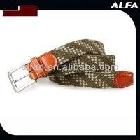 Snake Buckle Elastic Belt Cotton Belt