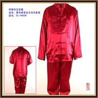 New style unique brand logo men satin pajama