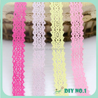 cotton trim with criss cross pattern color lace cotton trim