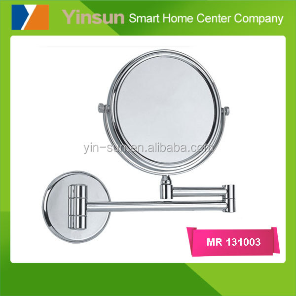 Bathroom Wall Mounted Makeup Mirror Extending Folding Double side
