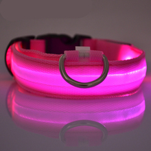 High quality with low price led dog collar and leash led pet collar USB recharge