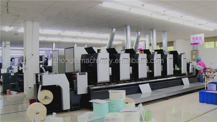 intermittent roll to roll 4 color sticker label offset printing machine for sale