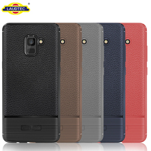 Leather Texture TPU Back Cover Case For Samsung Galaxy A8 2018 Protective Case