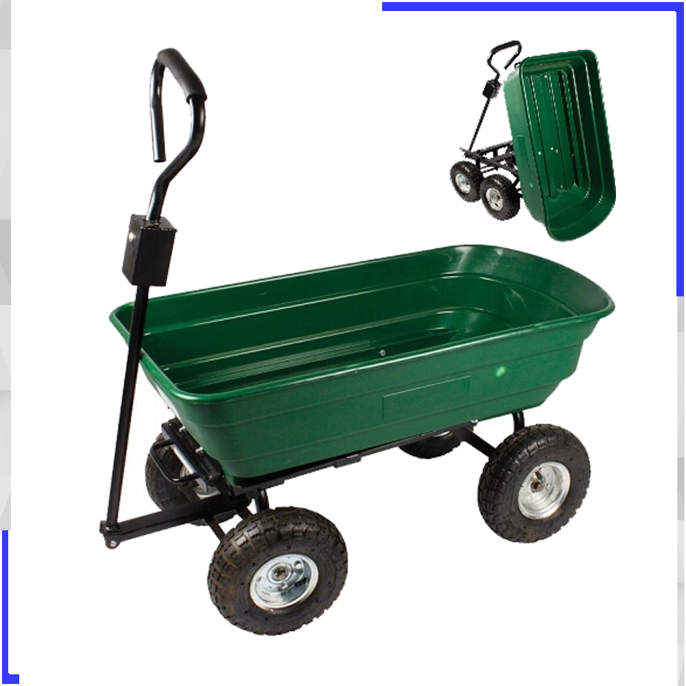 TC4253 Heavy Duty Garden Poly Dump Cart 1200 lb Capacity