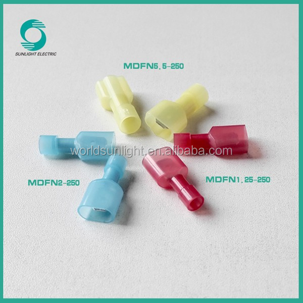 Easy to wire MDFN series nylon male fully insulated joint crimp connector terminal