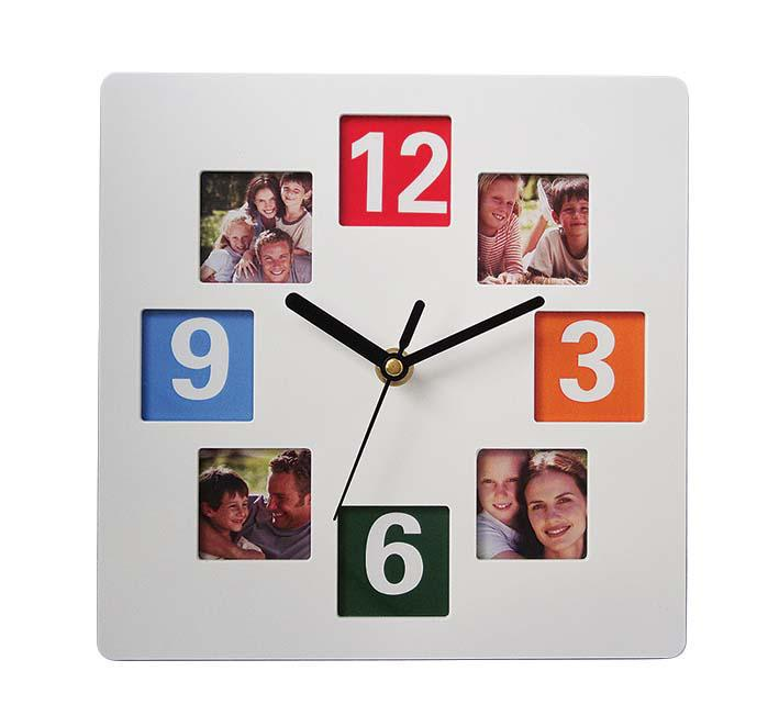 photo frame wall clock can change picture for baby picture