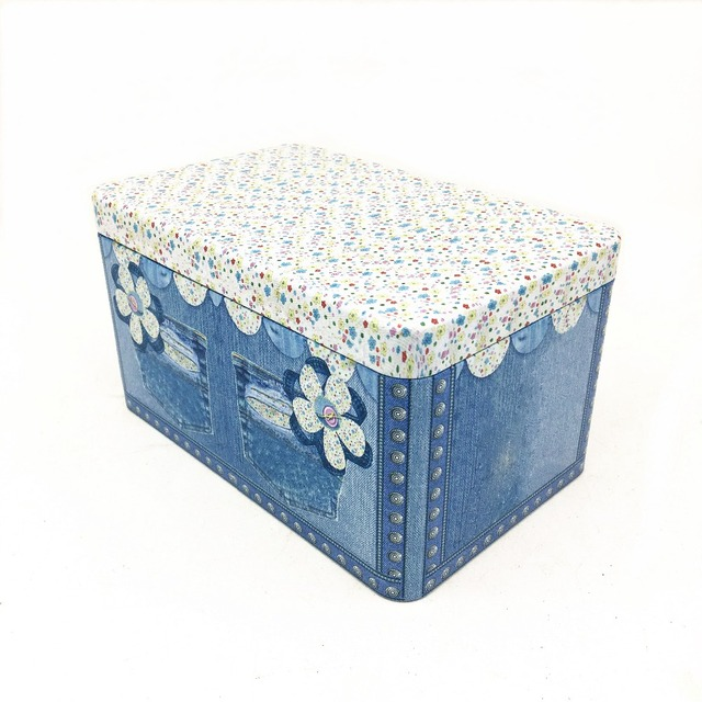high quality customize size metal material cookie packing tin tea use box