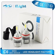 Factory price car LED head light high quality DOT CE auto led head lamp for car 9004 36W
