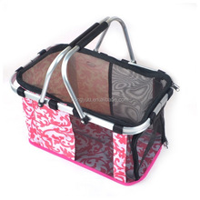 Pet Carrier Waterproof Oxford Fabric Pet Foldable Carrier Dog Tote Purse Travel Basket Portable Tote Bag