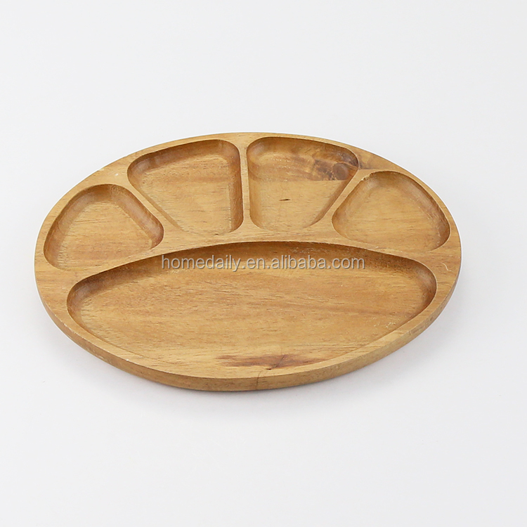 Safe and Eco-friendly Wood Kid's Dinner Serving Plate