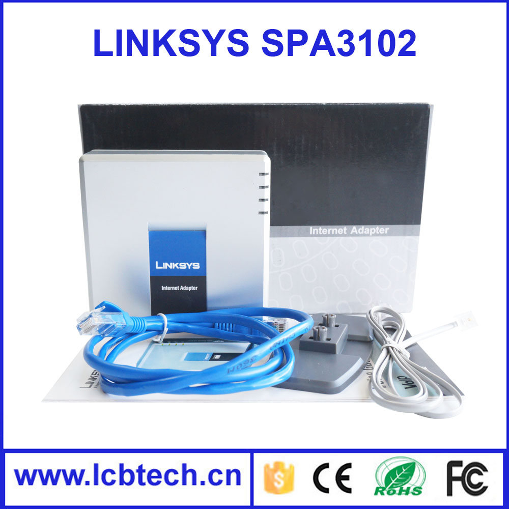 Unlocked Linksys Router SPA3102 VOIP phone adapter New FXS FXO PSTN Phone