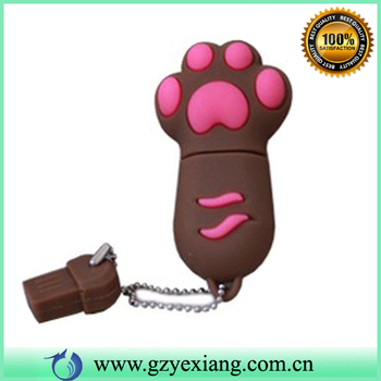 Many color promotional foot animal USB flash drive/disk gift accept paypal