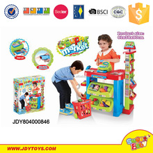 New style plastic supermarket toys kids cooking play set shopping toy play set