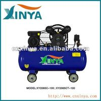 XINYA C-type 100L 8bar 3hp ac piston belt driven air compressor on wheel(XY2065C-100)
