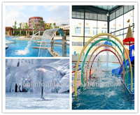 water mushroom fountain, hoops with water jets, similar products for small splash/play water park
