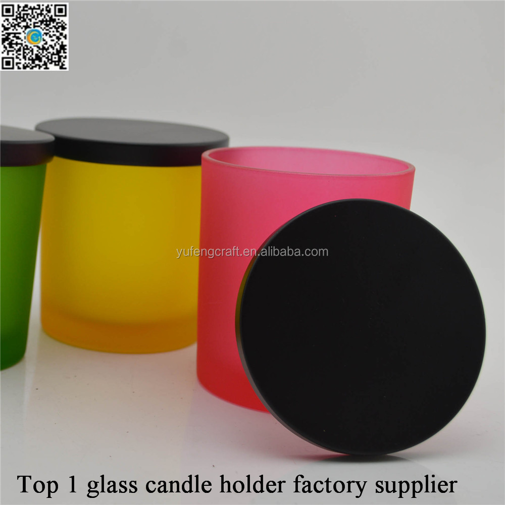 Frosted tealight candle holders with lids yufengcraft