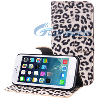Hot Leopard Texture Horizontal Leather Flip Case with Card Holder for iPhone 6