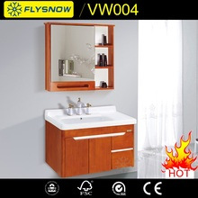 2017 Trending desigh Bathroom vanity cabinet Solid Wood PVC MDF cabinet with mirror