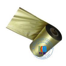 Thermal transfer ink compatible zebra printer barcode thermal transfer gold ribbon