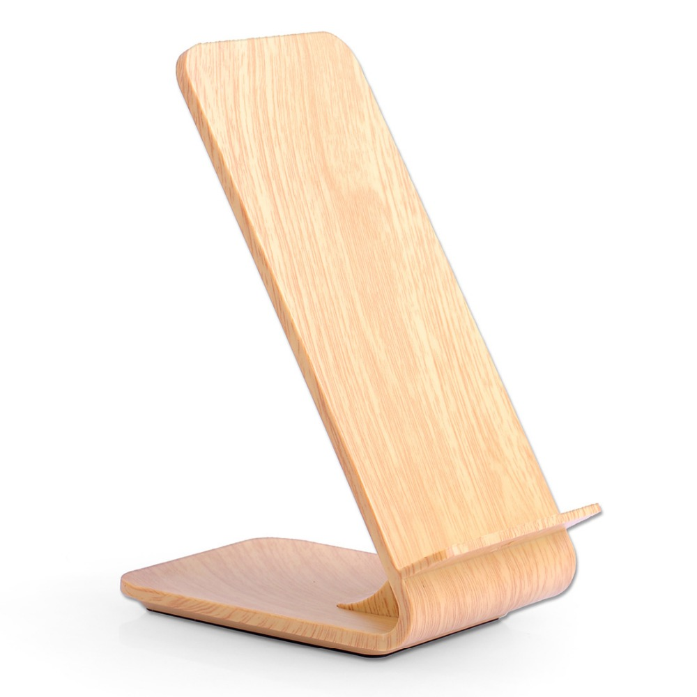 phone accessories real wood wireless charger fast charge for mobile phone stand for Samsung